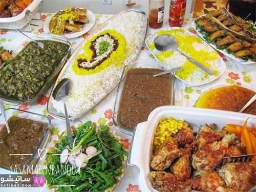 تزیین غذا و میز غذا برای مهمان
