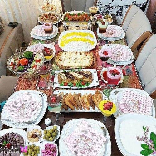 تزیین زیبای میز مهمانی