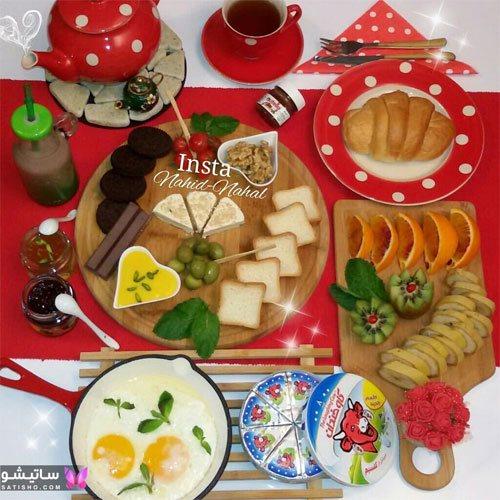 تزیین میز صبحانه مجلسی ۹۸