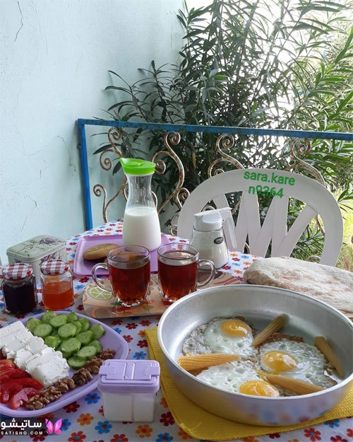 عکس میز صبحانه کامل