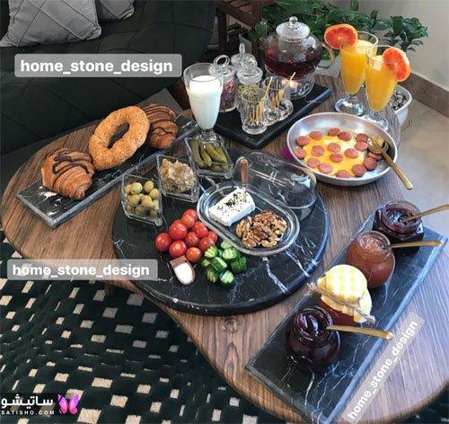 مدل تزیینات میز صبحانه عروس