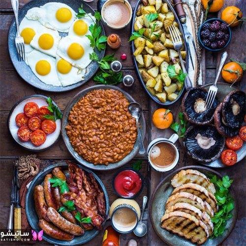 تزیین شیک میز صبحانه خوری