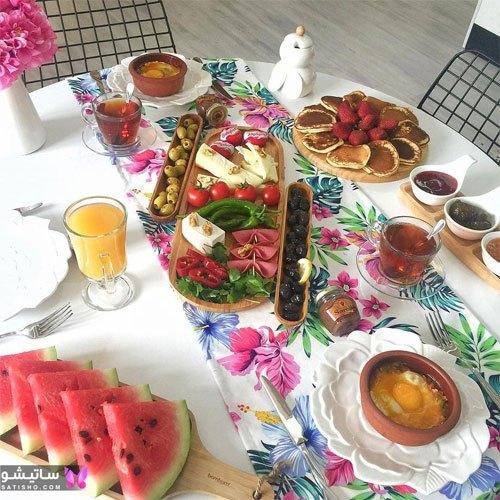 تزیین میز صبحانه عروس و داماد