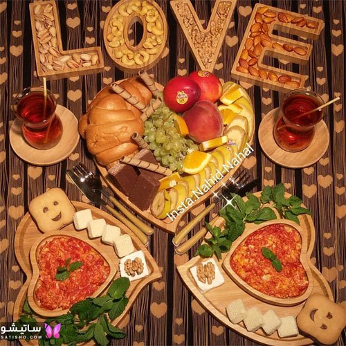 تزیین عاشقانه میز صبحانه برای عروس