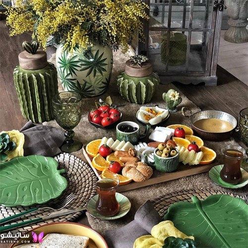 عکس میز صبحانه اشتها برانگیز