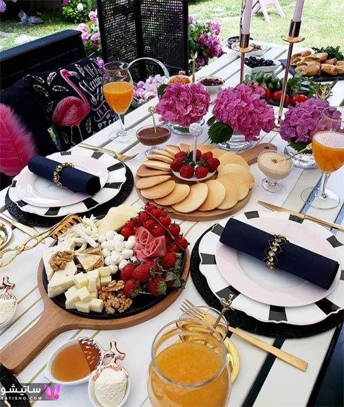 مدلهای جدید تزیین میز صبحانه