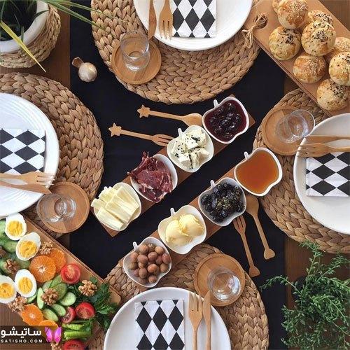 عکس میز صبحانه عروس ایرانی