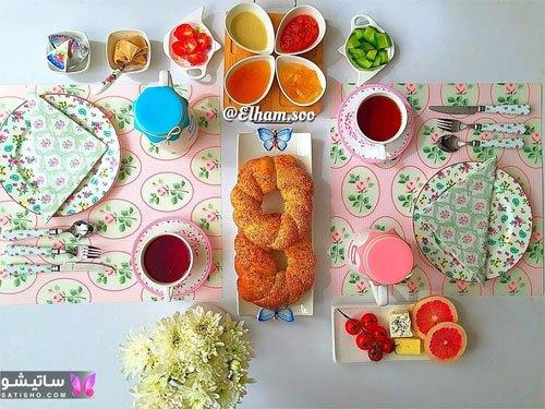 تصاویر شیک و زیبا از میز صبحانه