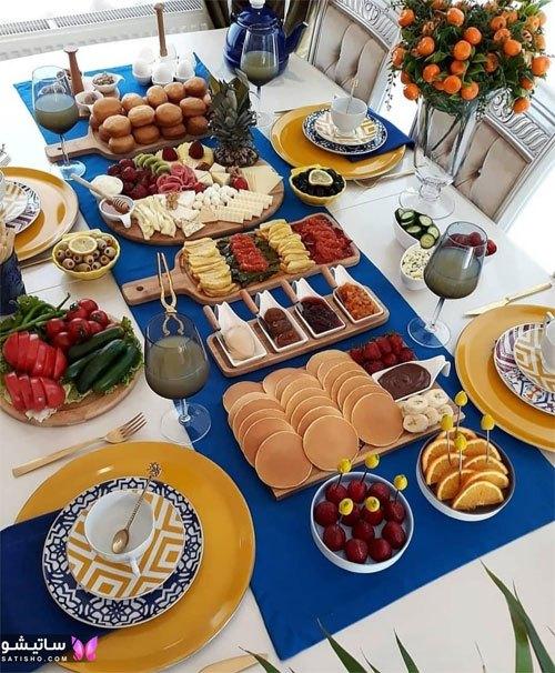 عکس میز صبحانه لاکچری