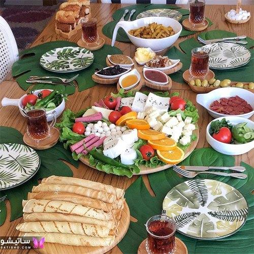 تزیین میز صبحانه شیک و زیبا
