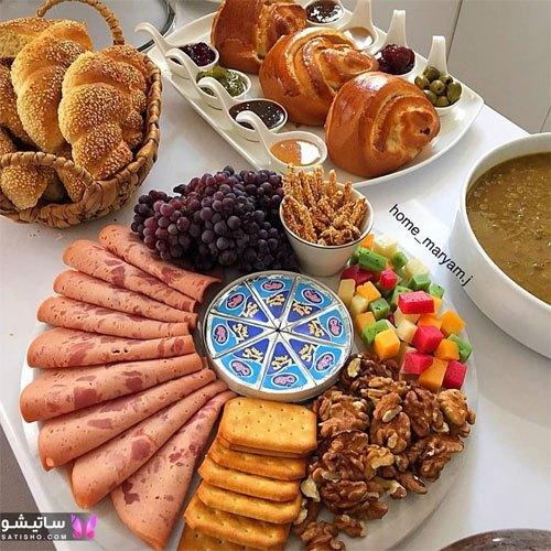 میز صبحانه رمانتیک و زیبا