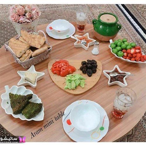 میز صبحانه ساده