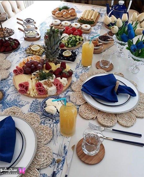 میز صبحانه لاکچری و شیک