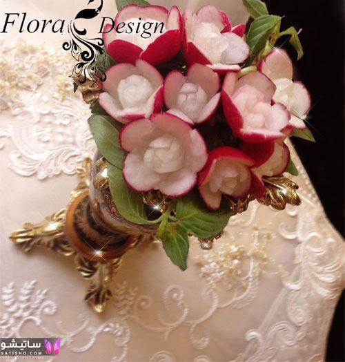 عکس از مدلهای تزیین تربچه به شکل گل