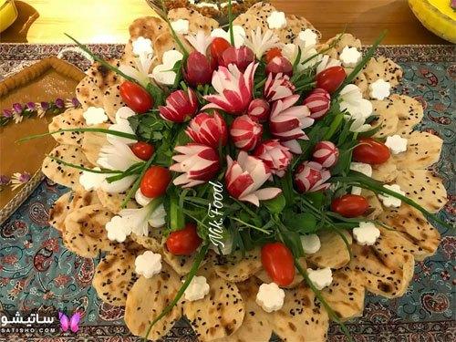 نمونه های زیبای تزیین تربچه برای میز صبحانه عروس