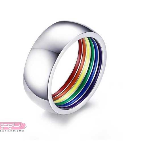 شیک ترین مدلهای انگشتر خلاقانه با طرح رنگین کمان