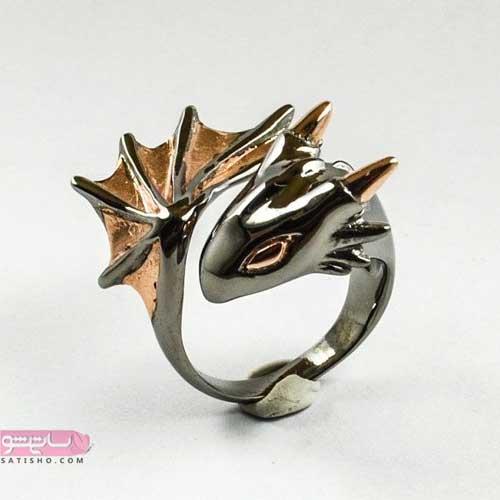 انگشتر طلا دخترانه ظریف و خلاقانه