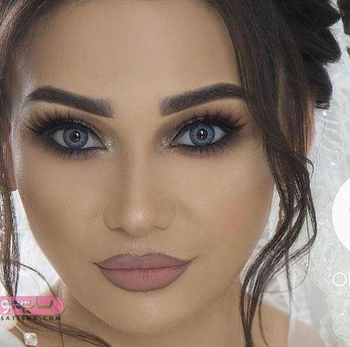 مدل میکاپ زیبای عروس اروپایی