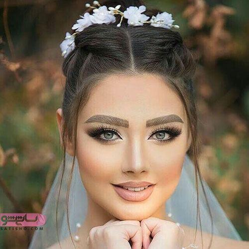 آرایش لایت عروس اروپایی شیک
