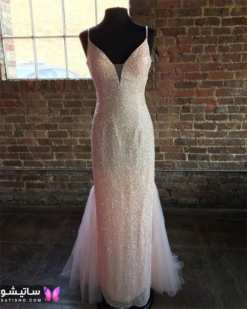 عکس جدیدترین لباس عروس یقه دلبری