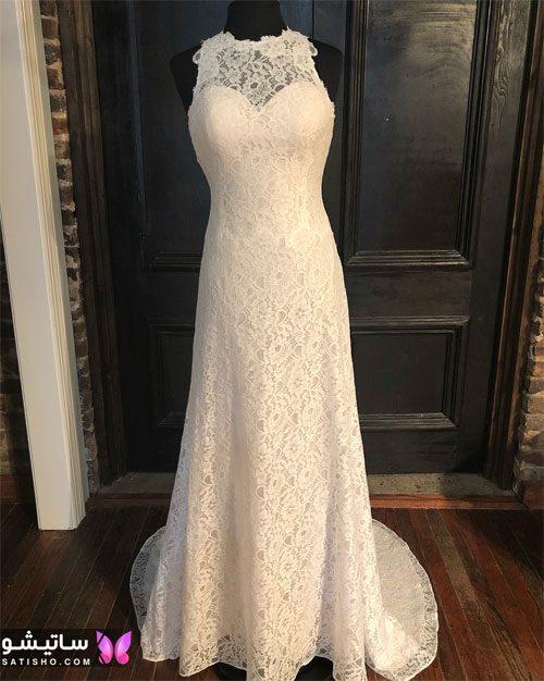 لباس عروس دامن طبقه ای