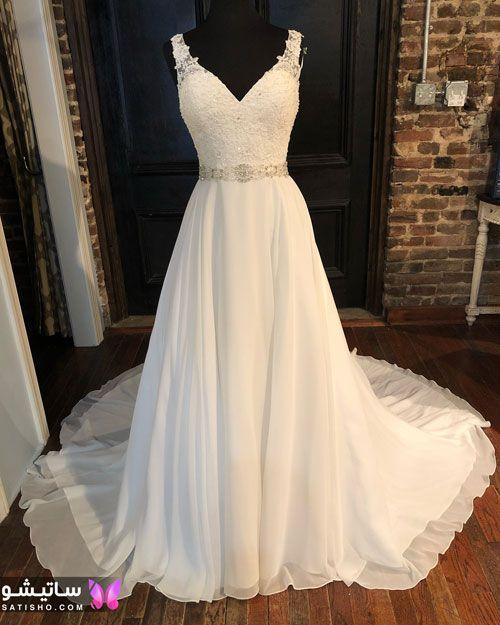 مدل لباس عروس بدون پف جدید