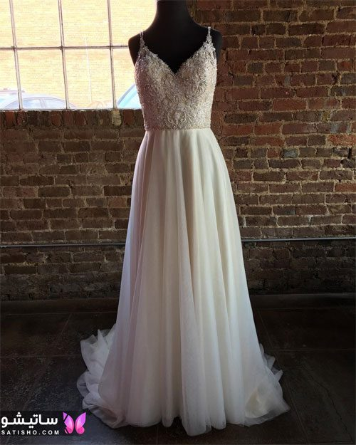 عکس لباس عروس بدون پف