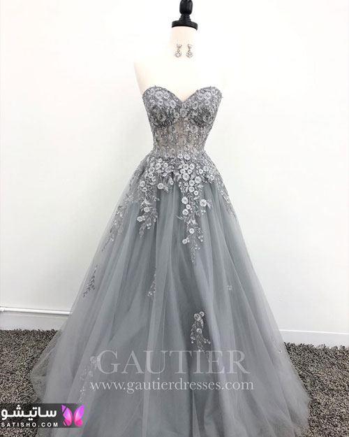 لباس مجلسی بلند دامن پرنسسی 2020