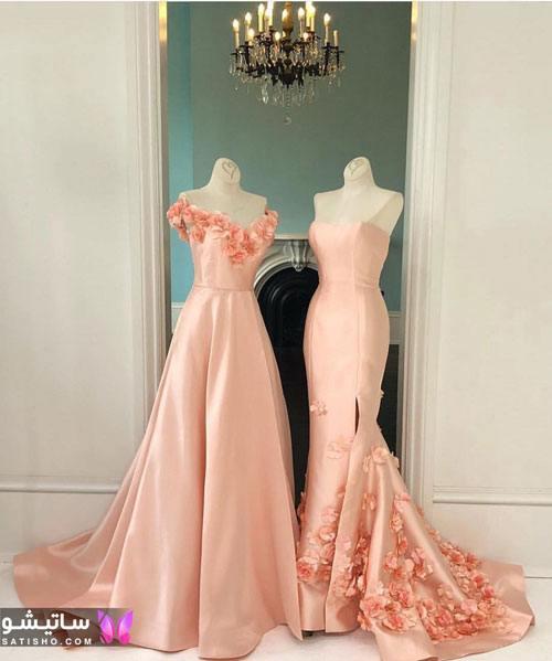 لباس مجلسی بلند با خرجکار