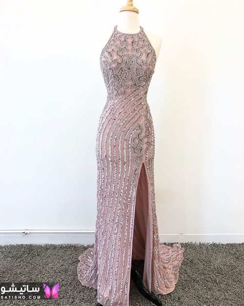 مدلهای لباس مجلسی بلند چاک دار
