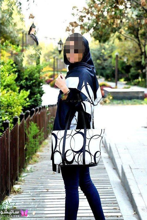 مدل کیف و روسری یکرنگ زنانه مناسب عید نوروز