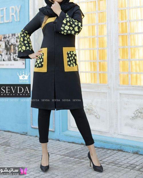مدل مانتو جدید مشکی برای عید