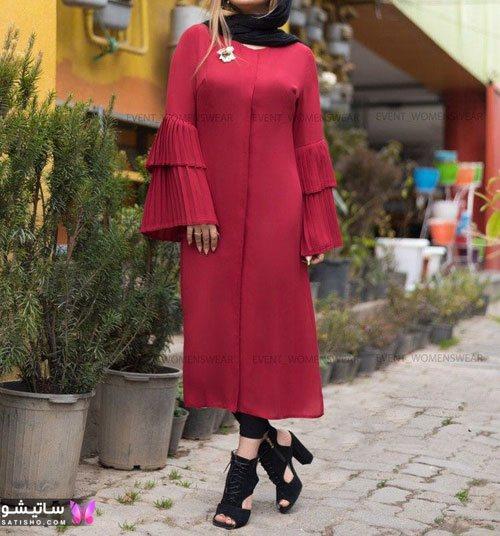 خرید مانتو بلند شیک برای عید