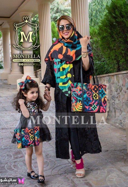 ست کیف و روسری رنگارنگ مدل جدید