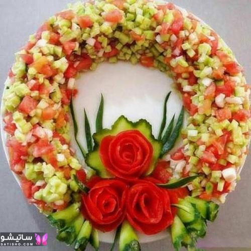بهترین مدل های تزیین سالادهای شیرازی