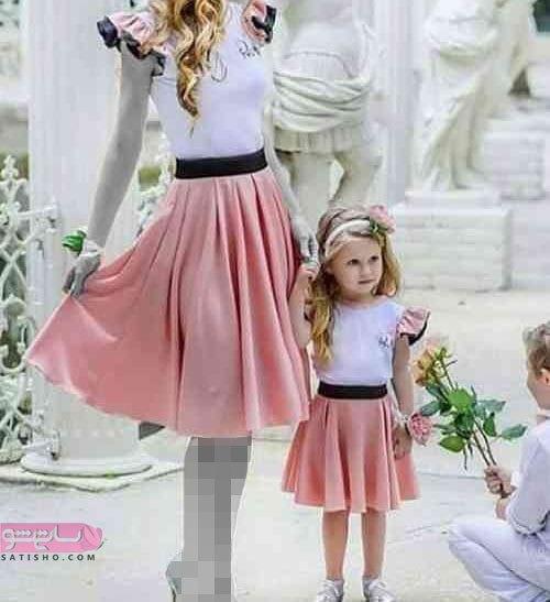 لباس دختر و مادر برای عروسی