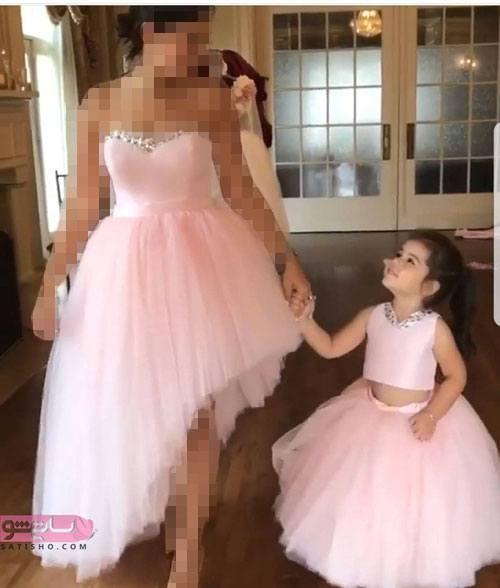 خوشگل ترین لباس شب ست دختر مادری