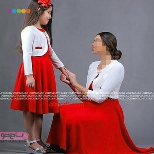 لباس مجلسی لمه ست مادر دختری