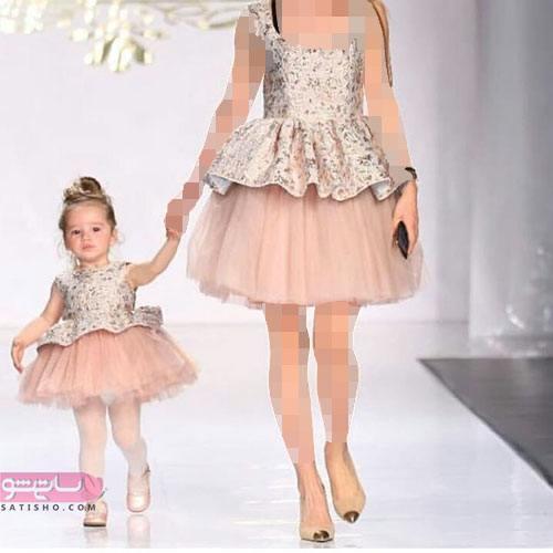 خرید اینترنتی لباس ست مادر دختری