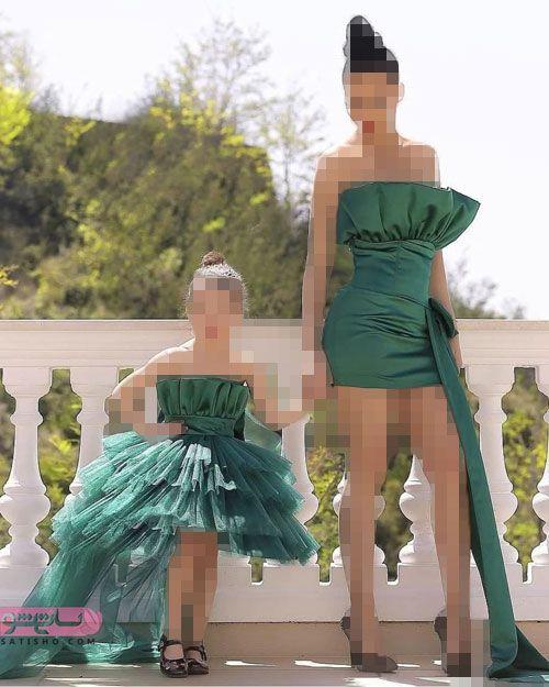 ست مادر دختری لباس عید