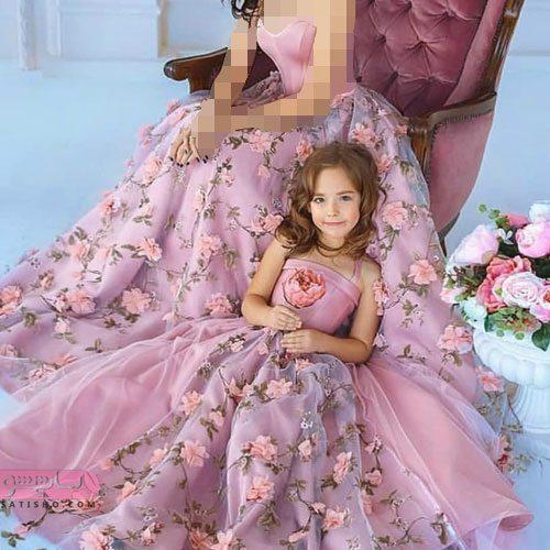 ست مادر دختر لباس مجلسی
