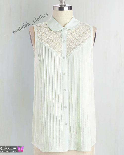 شومیز سفید بلند زنانه
