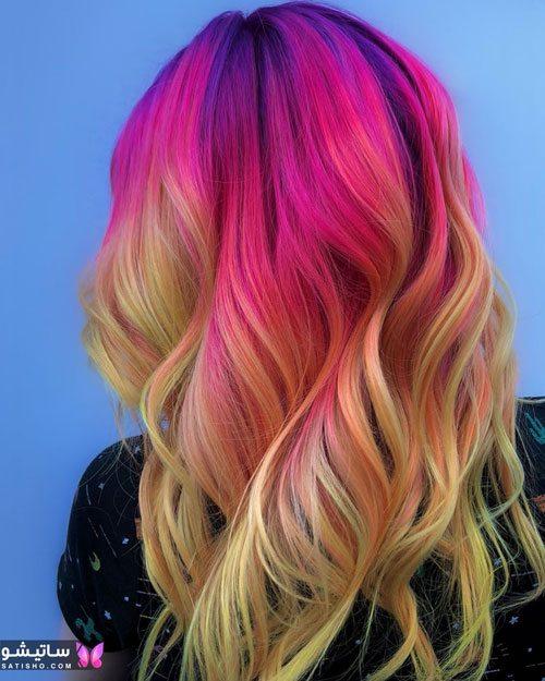 رنگ مو ترکیبی زیتونی