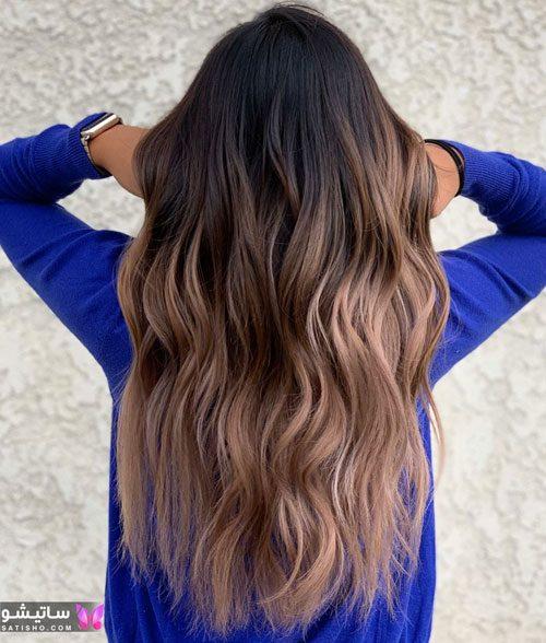 رنگ مو ترکیبی با دکلره
