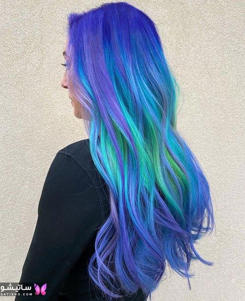 رنگ موی فانتزی آبی سال ۲۰۲۰ جدید