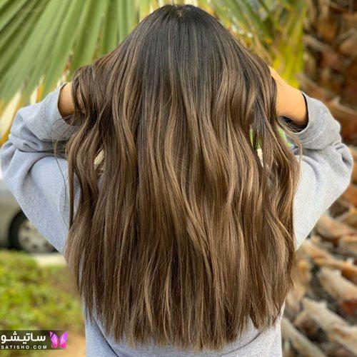 انواع رنگ موی قهوه ای