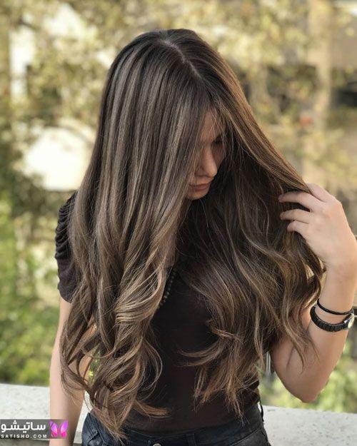 رنگ موی فندقی بدون دکلره روشن