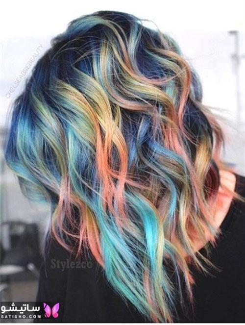 رنگ مو قهوه ای شیک
