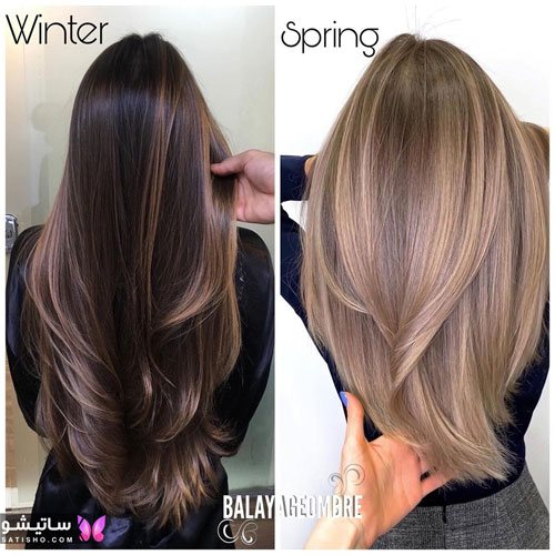 رنگ مو ترکیبی تیره