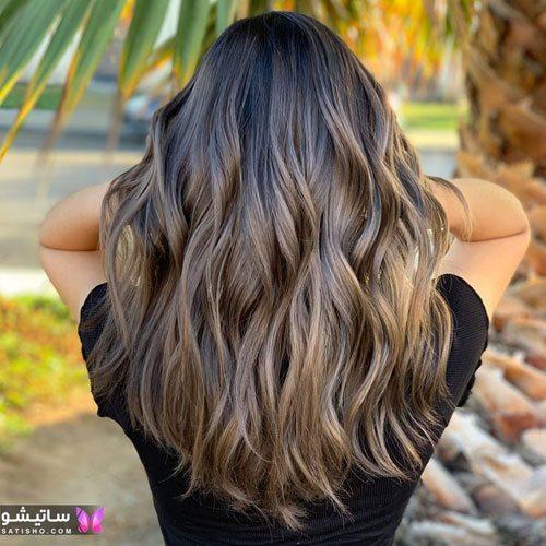 عکس رنگ مو زنانه هایلایت شده